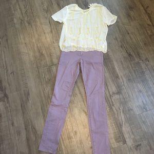 Gap purple skinny jeans